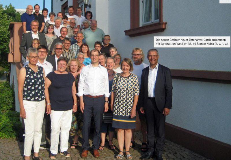 Landrat Jan Weckler lobt das Ehrenamt bei den Kickers