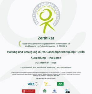 Gesundheitssport bei den Kickers - Zertifizierung des DOSB