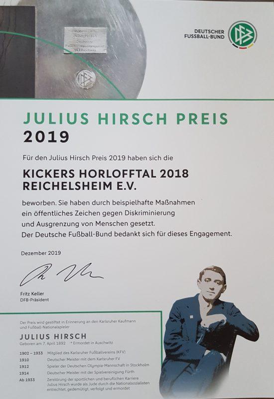 Julius Hirsch Preis 2019