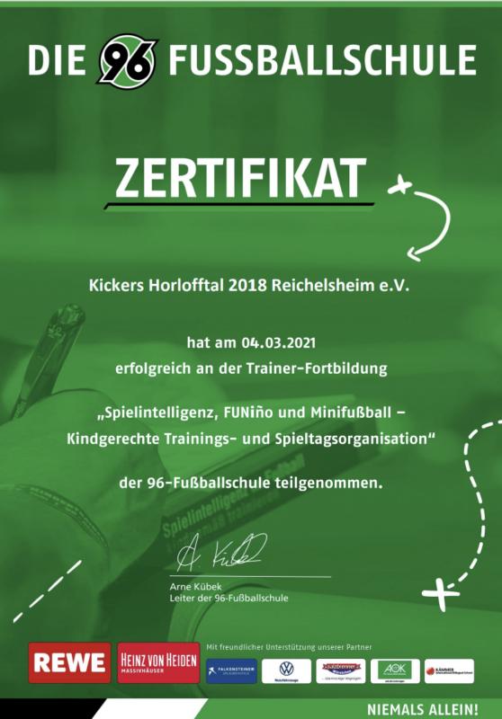 Kickersfortbildung im Bereich FUNino mit Hannover 96